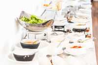 Serving catering