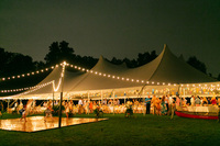 Southern wedding outdoor dance floor