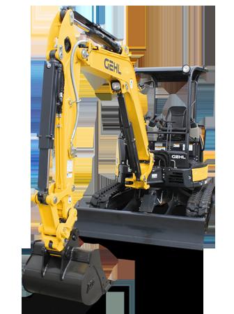 Gehl compact excavator z35 gen2 glamourfront hero